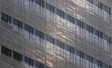 Photo of the outside of the new NY Times headquarters